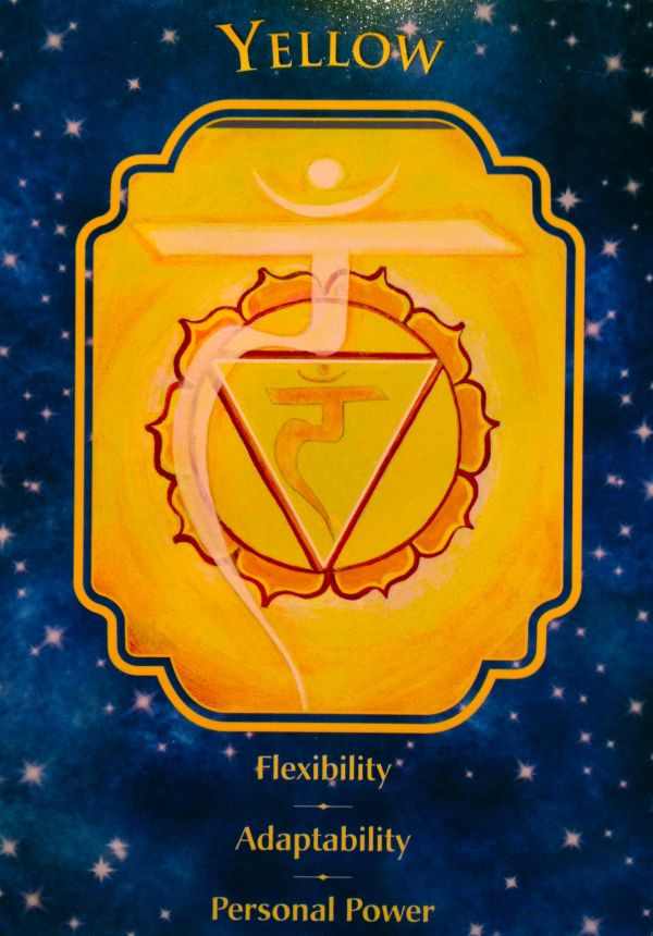 """November 12/2017 Daily Angel Oracle Card: Yellow, from the Angel Dreams Oracle Card deck, by Doreen Virtue, Ph.D and Melissa Virtue. Yellow: """"Flexibility ~ Adaptability ~ Personal Power."""" """"This ca…"""