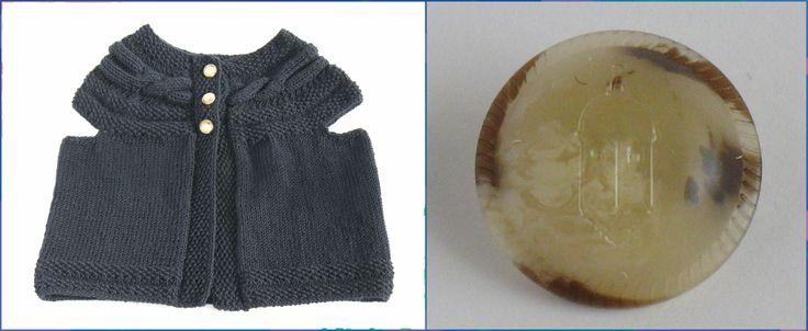 Colete Textura Tranças para Rapariga - 100% merino lã superwash.