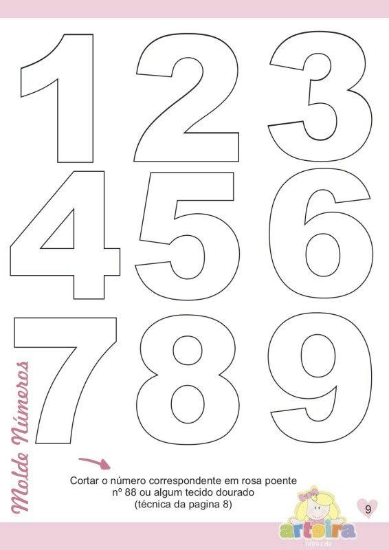 Numeros Letras de fieltro Moldes de letras y Moldes de