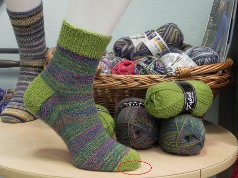 Kurz pletení ponožek - uzavření patentu (10. díl) Knitting socks - YouTube