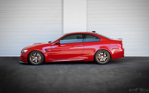 Melbourne Red E92 M3 on Bronze Volk TE37s