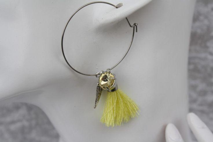 Ohrringe - Ohrringe silber gelb Quaste Blatt Schmuck  - ein Designerstück von trixies-zauberhafte-Welten bei DaWanda