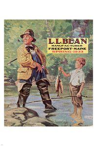 Ll Bean Spring 1933 Original Cover Vintage Poster 24x36 Family Fishing New | eBay