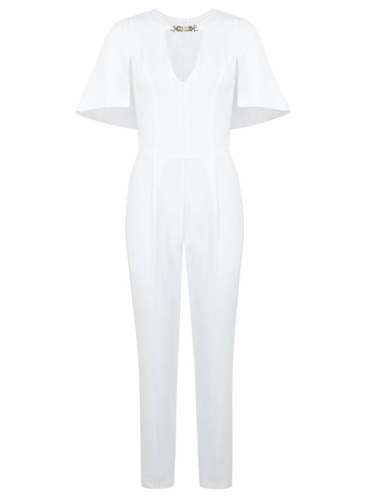 Cape Sleeve Jumpsuit