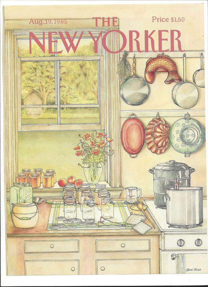 The New Yorker magazine ~ August 19, 1985 ~ COVER ONLY ~ Jenni Oliver