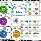 This is a fun set of color coordinated (for organizing groups) bus tags, name, or desk tags and group signs for tables, or for sorting out groups. ...