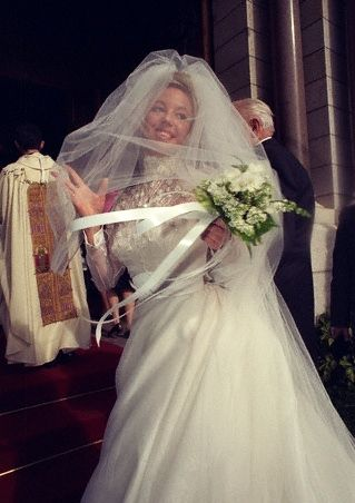 Camilla Crociani on her wedding day, 31 October 1998 in Monte Carlo, Monaco. She married Prince Carlo of Bourbon-Two Sicilies. Camilla (*197...