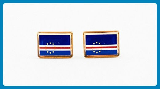 Cape Verde Flag Cufflinks - Groom fashion accessories (*Amazon Partner-Link)
