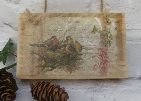 Vintage Style Reclaimed Wood Wall Art Rustic Home by SCWVintage