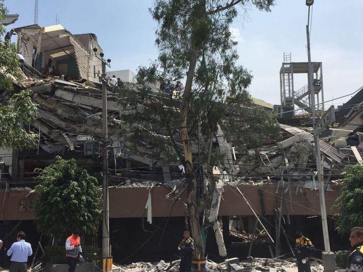 Escenas de pánico en México tras el terremoto de magnitud 71 en el sur del país