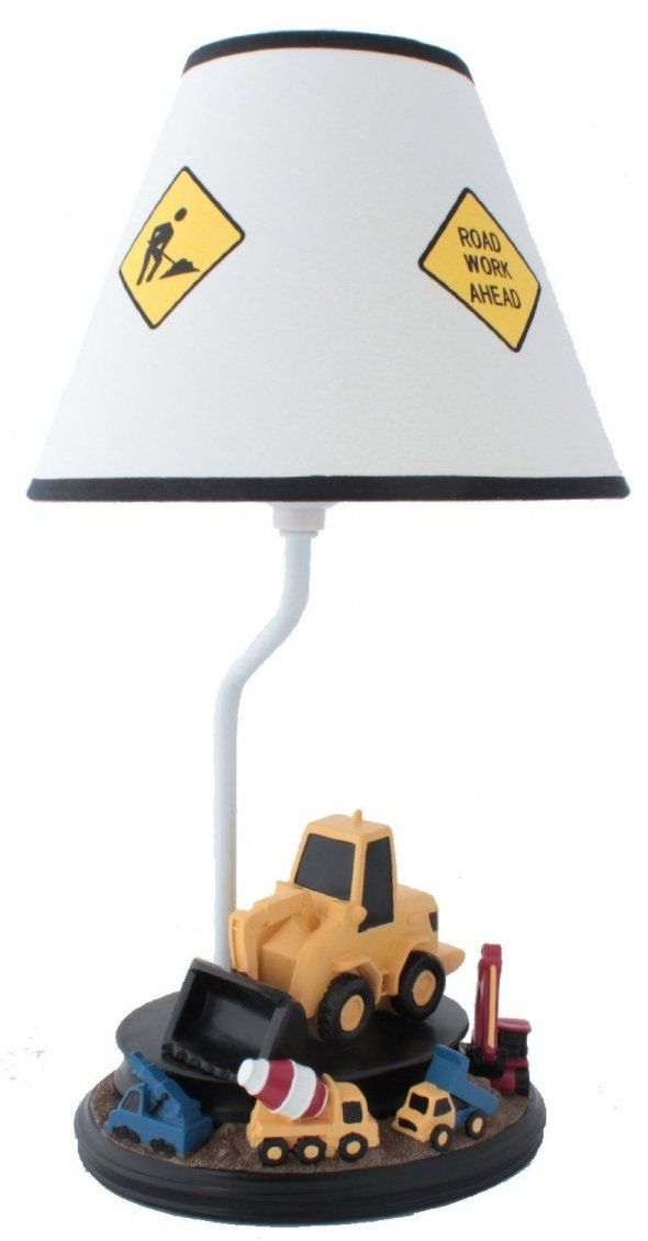 Construction Table Lamp With Matching Night Light Boys Construction Roomboy Bedroomsbright