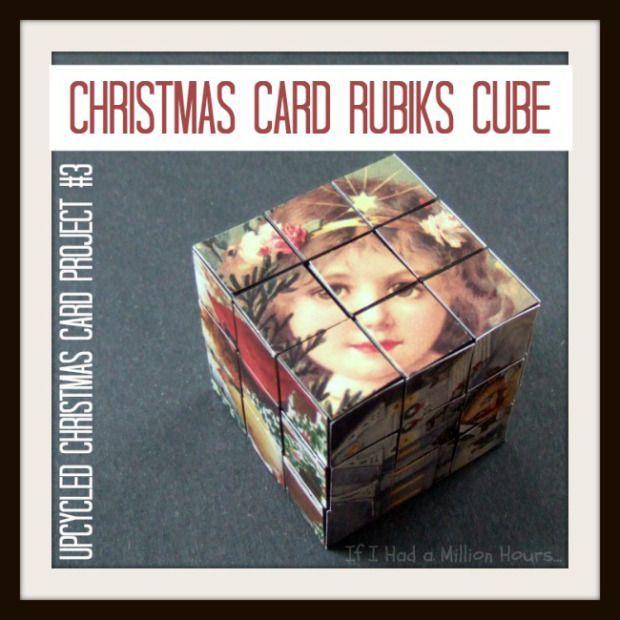 Christmas Card Rubiks Cube Cover