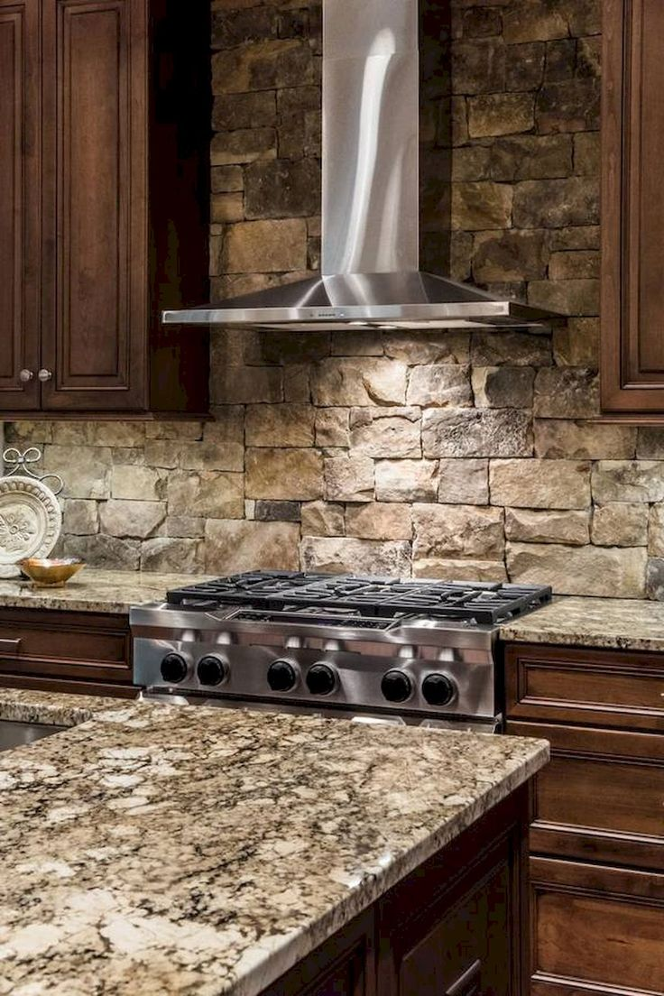 Best Rock Backsplash Ideas On Pinterest Stone Backsplash