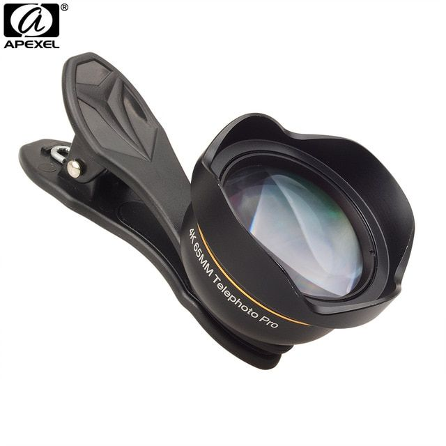 best loved d5bdd 06418 APEXEL Phone Lens Professional HD 65mm Portrait Lens 3X Telephoto ...