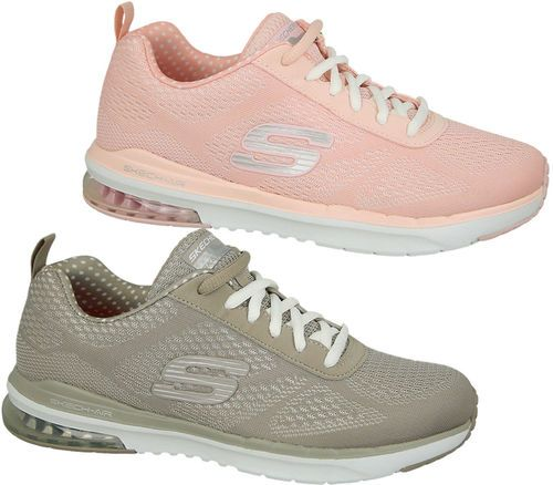 Skechers Women's Sports Trainers, sizes 4-8 available. Perfect for the gym to get fit this summer. http://www.shoestationdirect.co.uk/skechers-skech-air-infinity-womens-memory-foam-sports-gym-trainers/