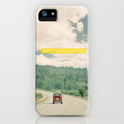 NEVER STOP EXPLORING iPhone & iPod Case by Leslee Mitchell - $35.00