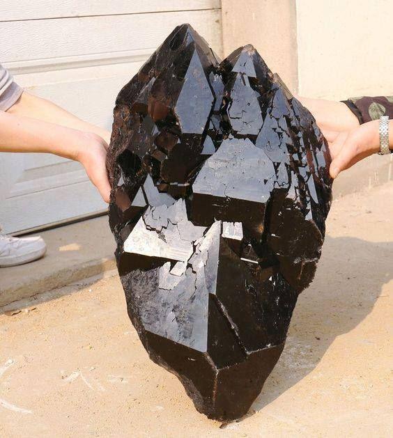 Natural black skeletal Elestial Rutilated QUARTZ Crystal