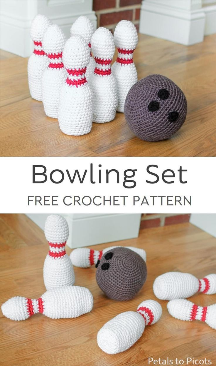 Crochet Bowling Set: Bowling Pin and Ball Patterns