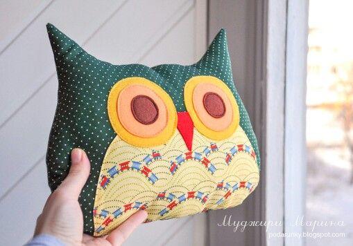 Owl, pillow, toy (handmade)