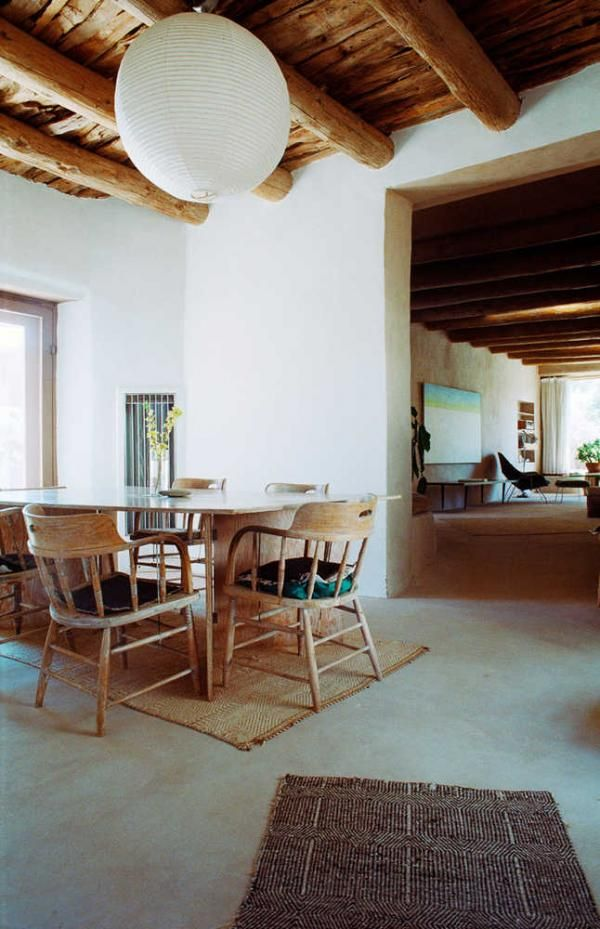 GEORGIA O'KEEFFE INTERIORS - ABIQUIU, GHOST RANCH - NEW MEXICO