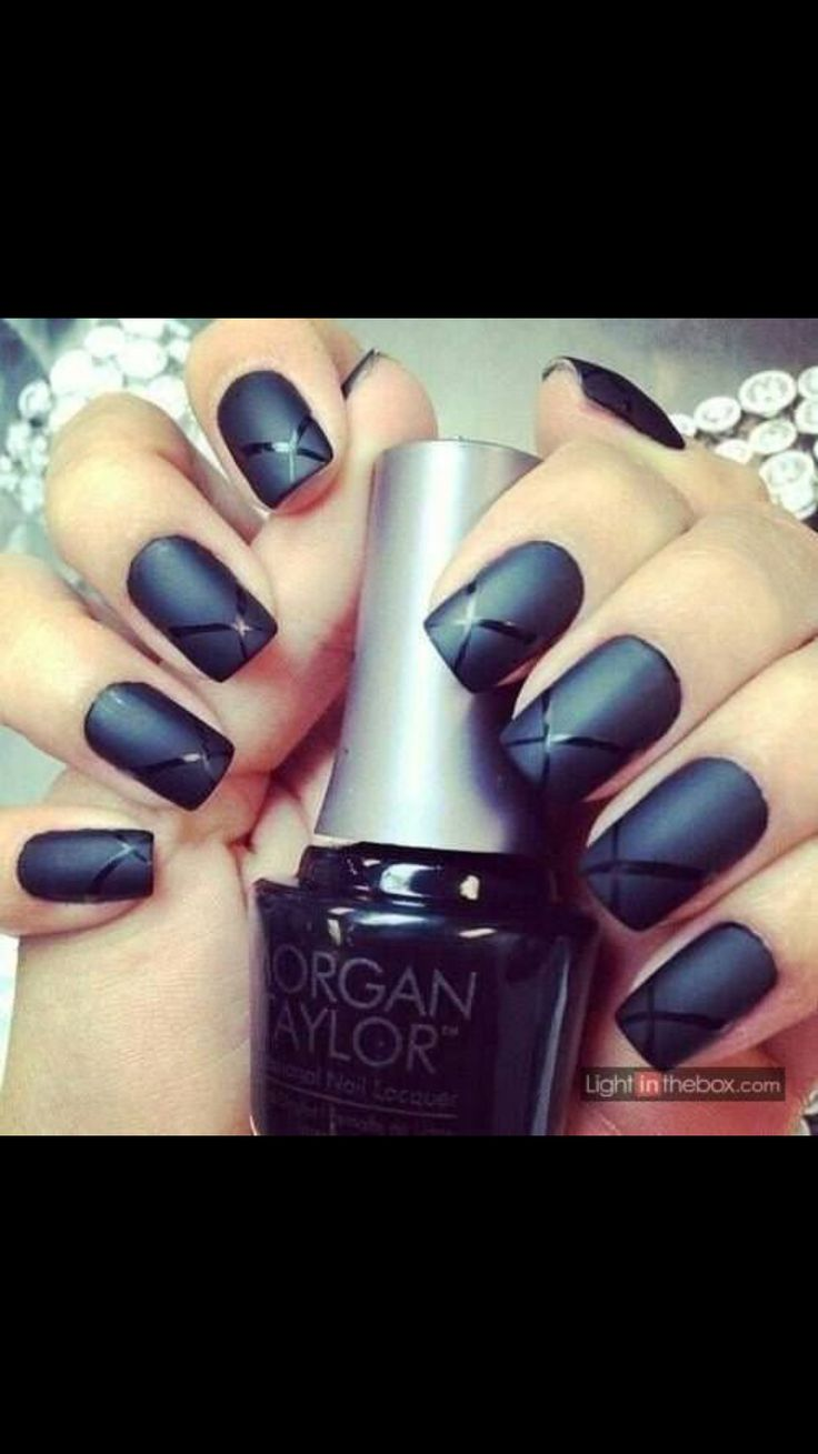 Lorde inspired nail tutorial - Here I Have A Collection Of 15 Matte Black Gel Nail Art Designs Ideas Trends Of Apply Black Nail Color For A Prettier Effect On Your Nails In Any And