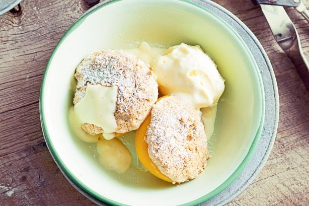Use Anzac biscuits as the crunchy topping for this fruity dessert. #Anzac