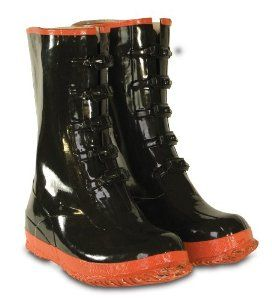 CLC Rain Wear R22014 5 Buckle Black and Red Rubber Boot, Size 14 by CLC. $29.99. From the Manufacturer                5 Buckle Rubber Boot.                                    Product Description                These Rubber Rainboots by Custom Leather Craft® have 5 buckles to secure a better fit. Fitting over your shoes these boots are fabric lined for comfort on the inside. While on the outside these boots feature a bar tread outsole for traction. Keep your feet dry an...