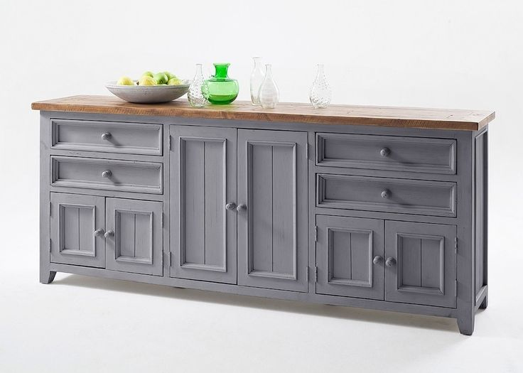 Sideboard Landhausstil Byron Holz Massiv Grau Mit Vintage Braun 20576. Buy  Now At Http: