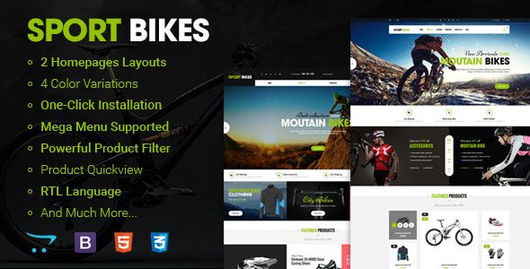 #Sportbike - Premium Responsive #OpenCart Theme - #Shopping OpenCart