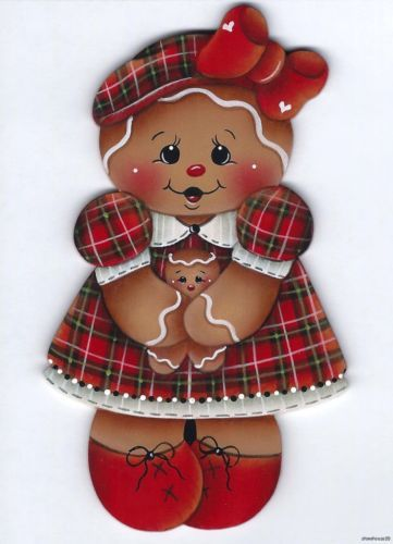 GINGERBREAD Girl - Designed and painted by Pamela House