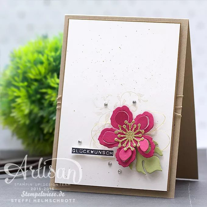 Geburtstagskarte - Stampin' Up! - Global Design Project - Botanical Blooms - Pflanzen-Potpourri ❤︎ Stempelwiese