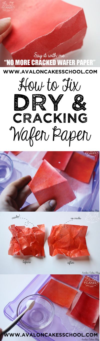 How to fix dry and cracking wafer paper! I do this EVERYTIME before I use wafer paper it makes it SO much more easy to work with, especially for wafer flowers!