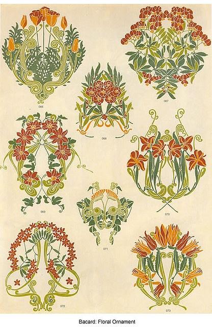 Art Nouveau Flower Tattoo: Bacard : Diferentes Motivos Florales