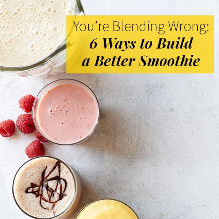 Jeder kann eine zufällige Auswahl von Lebensmitteln in einen Mixer werfen. Aber wenn du willst …   – smoothies