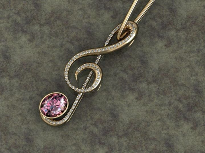 Note pendant music gold