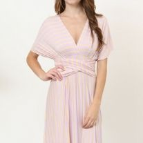 We love this maxi and all the ways you can create your own great look! Find new ways to twist the silky material and play with neckline styles that fits your mood!   Material has generous amount of stretch.   77% Polyester 18% Rayon 5% Spandex