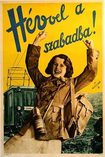 1930's Revesz Biro Hungary Vintage Travel Poster