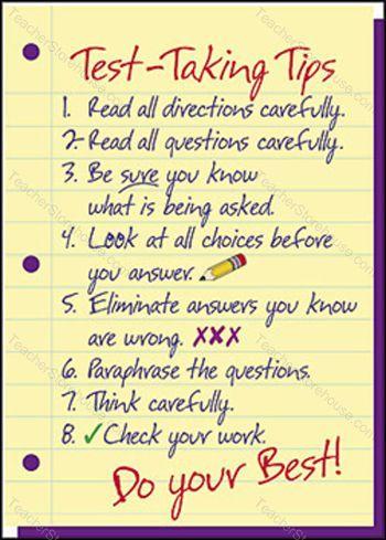 ... TREND ENTERPRISES INC. - Poster Test-Taking Tips (13'' X 19'' Large