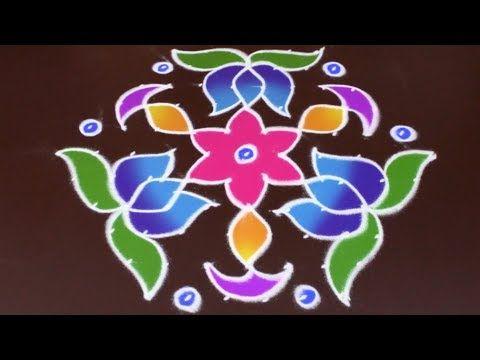 Sankranthi Special (11 to 6 interlaced Dots) Easy Rangoli   Easy Rangoli Designs - YouTube
