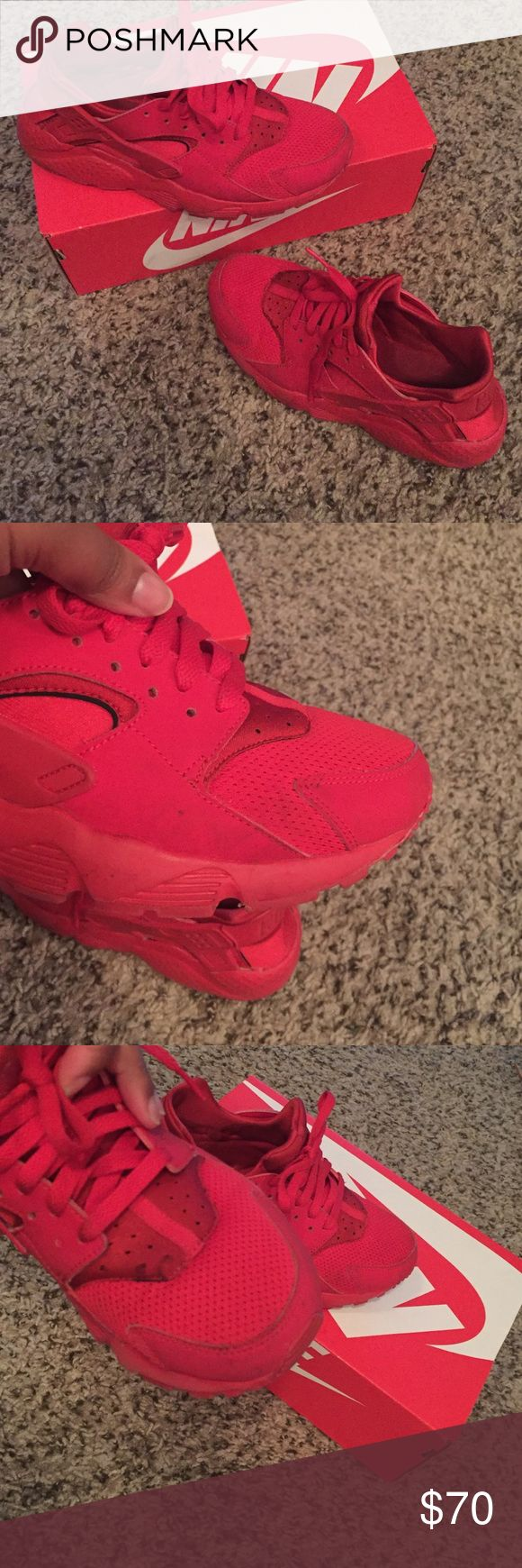 Nike Huaraches, Red - 6.5Y