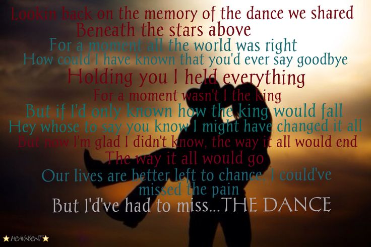 The dance garth brooks check me out on www facebook com