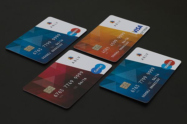 ABLV payment cards design on Behance
