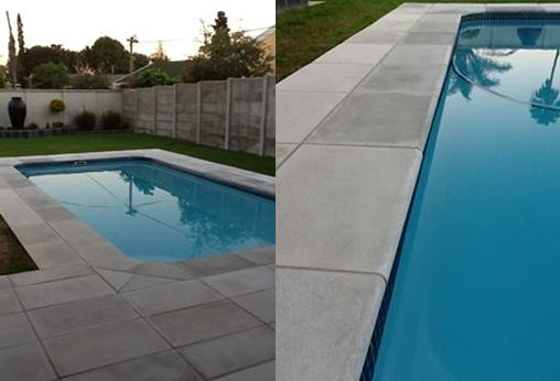 Our pavers are non slip (don't use a high gloss sealer on them, they will become slippery.) and perfect for your paving around the pool area.