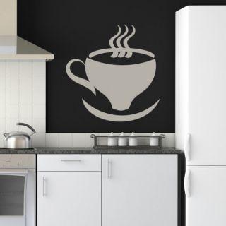Наклейка для дома от 2stick.ru Ароматная чашечка зеленого кофе