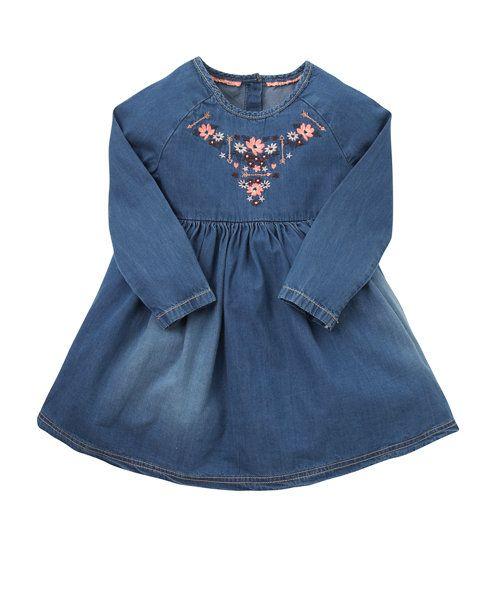Платье девичье джинсовое - платья - девочки от 2 до 10 лет - Одежда девочкам