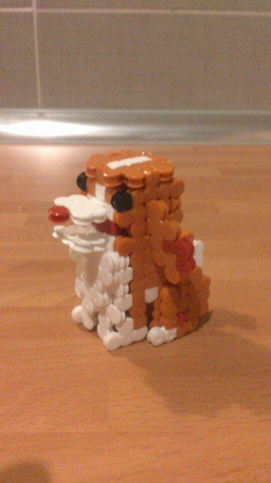 Perro 3d Nuestras Creaciones De Hama Beads Pinterest