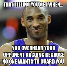 LOL Kobe knows - http://nbafunnymeme.com/uncategorized/lol-kobe-knows (Basketball Quotes)