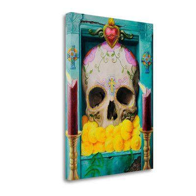 Tangletown Fine Art 'Calavera' by Robert Valadez Graphic Art on Wrapped Canvas