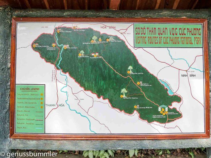 Cuc Phuong Nationalpark Karte des Parks