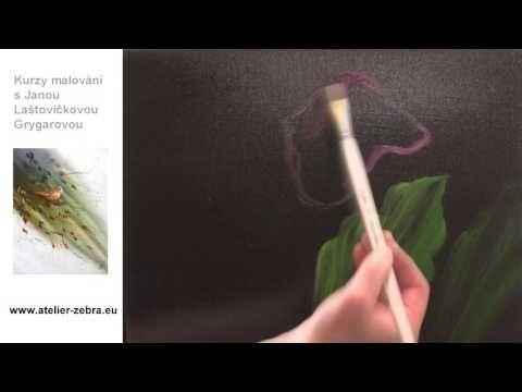 Kurz malování s Janou Laštovičkovou - olejomalba na mokré plátno - YouTube